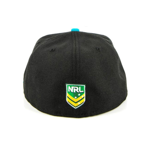 Penrith Panthers Black Aqua Fashion Fitted Cap