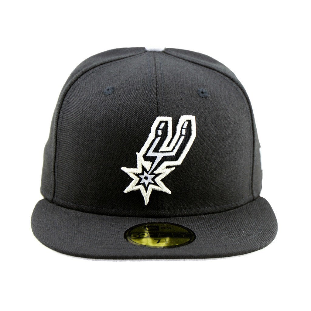 59Fifty Fitted Cap - San Antonio Spurs Black Fitted Cap