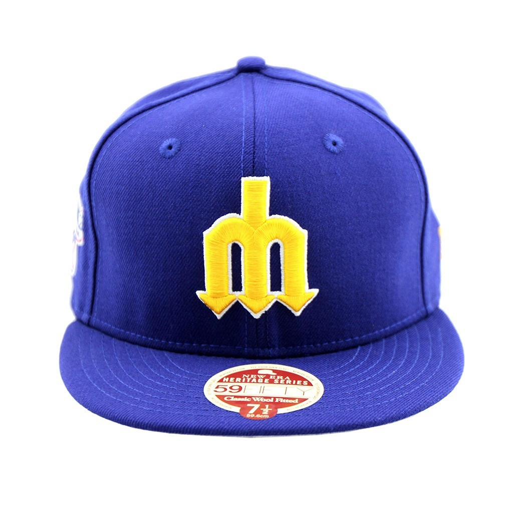 59Fifty Fitted Cap - Seattle Mariners Trident Baseball Heritage Series Fitted Cap