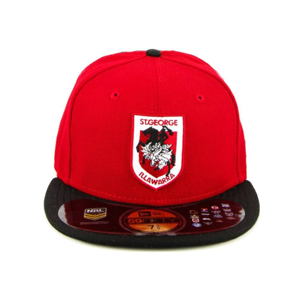 59Fifty Fitted Cap - St George Dragons Red Black Brim Fashion Fitted Cap