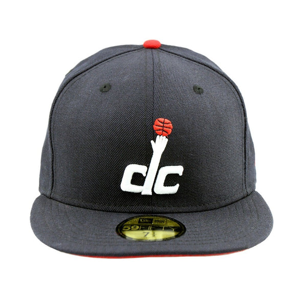 59Fifty Fitted Cap - Washington Wizards DC Navy Red Under Team Fitted Cap  ... 194b028b955
