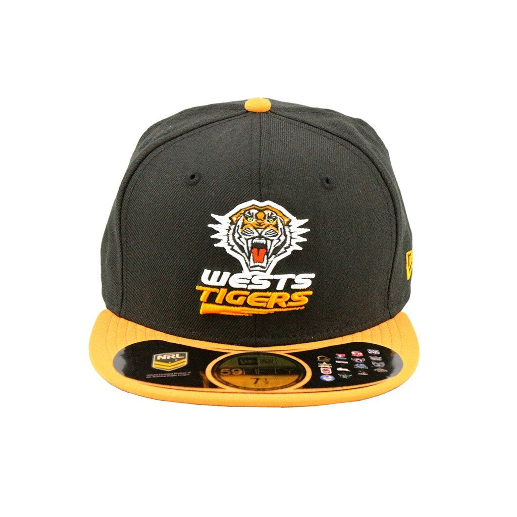 59Fifty Fitted Cap - Wests Tigers Black Orange Brim Fashion Fitted Cap
