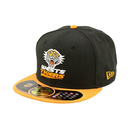 Wests Tigers Black Orange Brim Fashion Fitted Cap