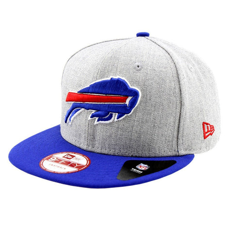 Buffalo Bills New Era Bind Back Snapback Grey Blue Cap