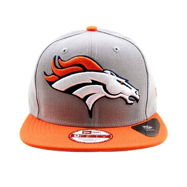 9Fifty Snapback Cap - Denver Broncos Grand Redux Logo Snapback Cap Grey Orange New Era