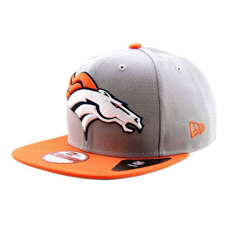 Denver Broncos Grand Redux Logo Snapback Cap Grey Orange New Era