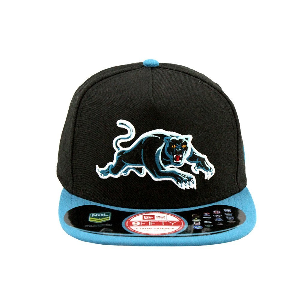 9Fifty Snapback Cap - Penrith Panthers Black Teal Brim A-Frame Snapback Cap