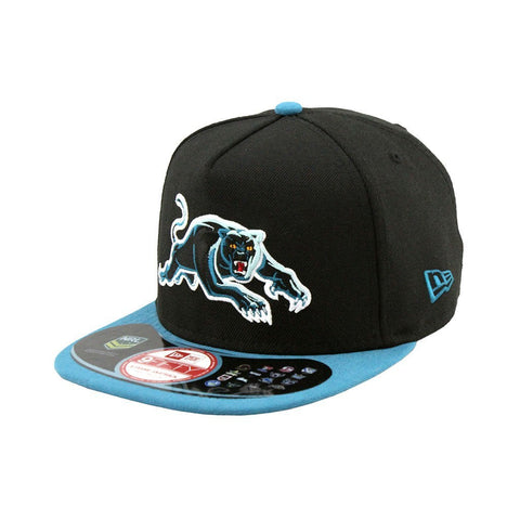 Penrith Panthers Black Teal Brim A-Frame Snapback Cap
