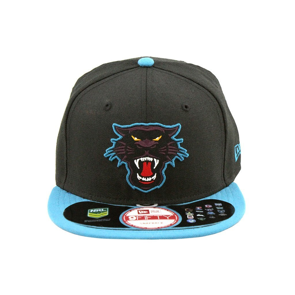 9Fifty Snapback Cap - Penrith Panthers Black Teal Brim Fashion Snapback Cap