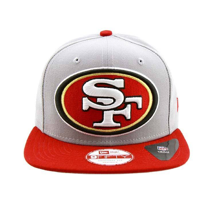9Fifty Snapback Cap - San Francisco 49ers New Era Grand Redux Snapback Cap Grey Red