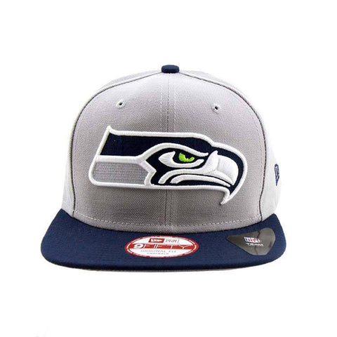 Seattle Seahawks New Era Snapback Cap Grand Redux Grey Navy