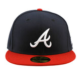 Atlanta Braves New Era Navy Red Fitted Cap