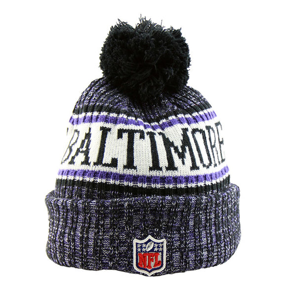 49dc4d55aa53f7 Baltimore Ravens New Era NFL On Field Knit Cuffed Beanie – Lidzcaps