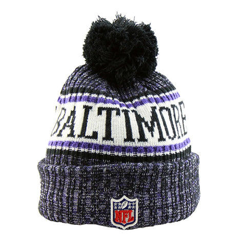 Baltimore Ravens New Era NFL On Field Knit Cuffed Beanie