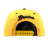 Boston Bruins Zephyr Snapback Cap Two Tone Yellow Black  Front