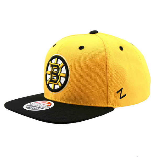 pretty nice 5a502 9c912 ... coupon code for boston bruins zephyr snapback cap two tone yellow black  front eaf62 57698