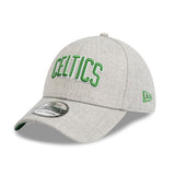 Boston Celtics Heather Grey Script 3930 New Era Stretch Fit Cap