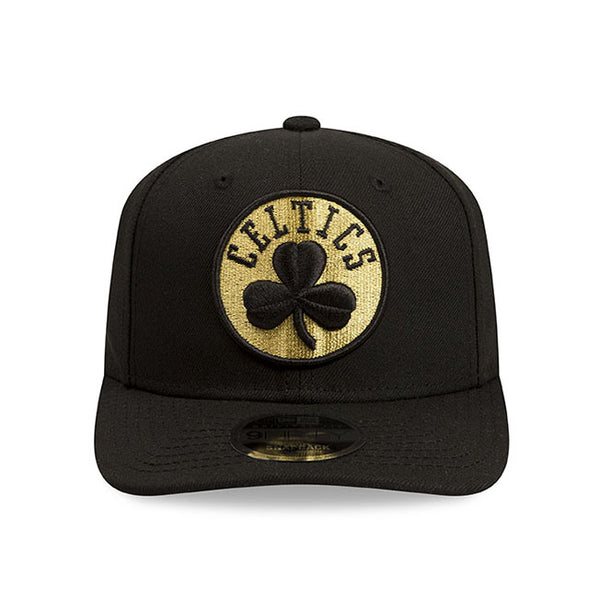 788b5373 Boston Celtics New Era NBA Black Metallic Gold Snapback Cap – Lidzcaps