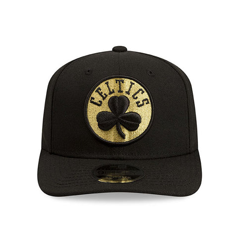 Boston Celtics New Era NBA Black Metallic Gold Snapback Cap