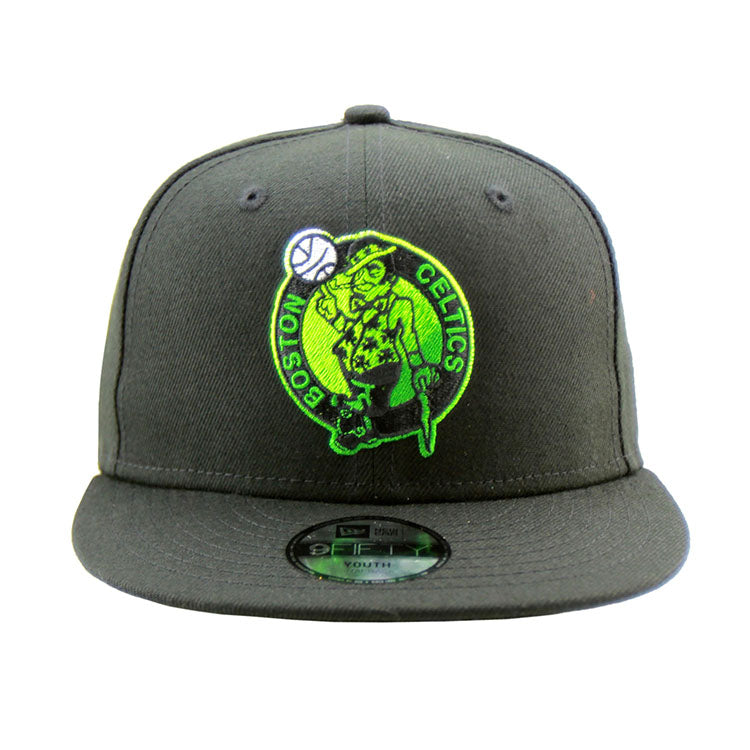 low priced ea695 05a09 Boston Celtics New Era Youth Black 9Fifty Performance Cap