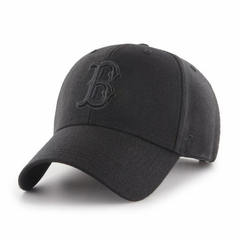 Boston Red Sox '47 Brand Black on Black MVP Snapback Cap