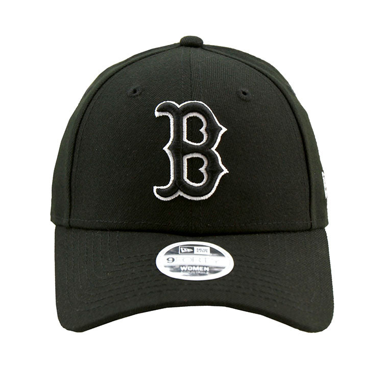Boston Red Sox Black 9forty Adjustable Cap Women