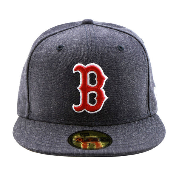 Boston Red Sox Heather Navy Fitted New Era Cap ... d493e73a4a2