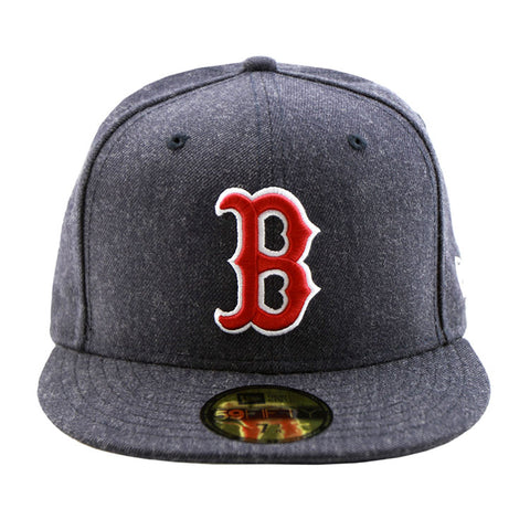 Boston Red Sox Heather Navy Fitted New Era Cap