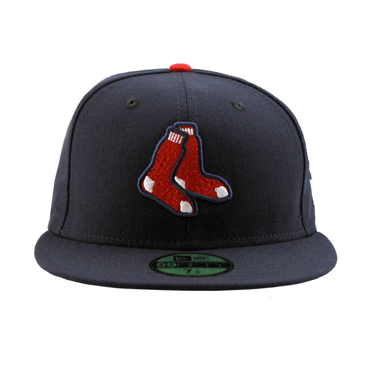 Boston Red Sox Navy Alternative Logo Socks Fitted New Era Cap 6456c6d34e8e