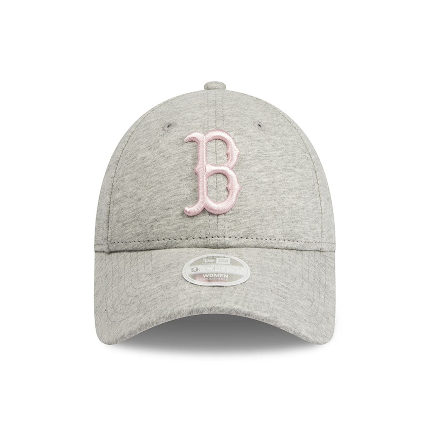 Boston Red Sox New Era Heather Grey Jersey 9forty Adjustable Cap Women
