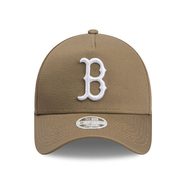 Boston Red Sox New Era Khaki Beige 9forty Adjustable Cap Women