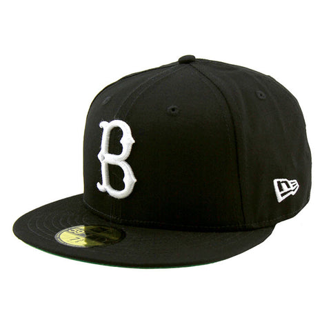 Brooklyn Dodgers Baseball Heritage Series Black Fitted Cap White Logo