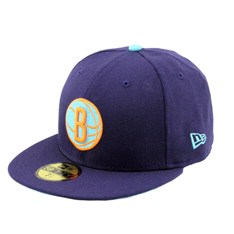 Brooklyn Nets Neon Purple Fashion Fitted New Era Cap