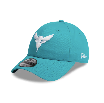 Charlotte Hornets Team Pop Teal New Era 9forty Adjustable Strapback Pre Curved Cap