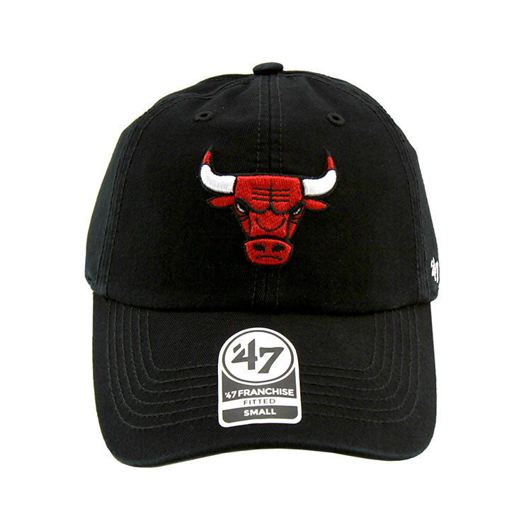 Chicago Bulls Black Fashion Fitted 47 Brand Cap