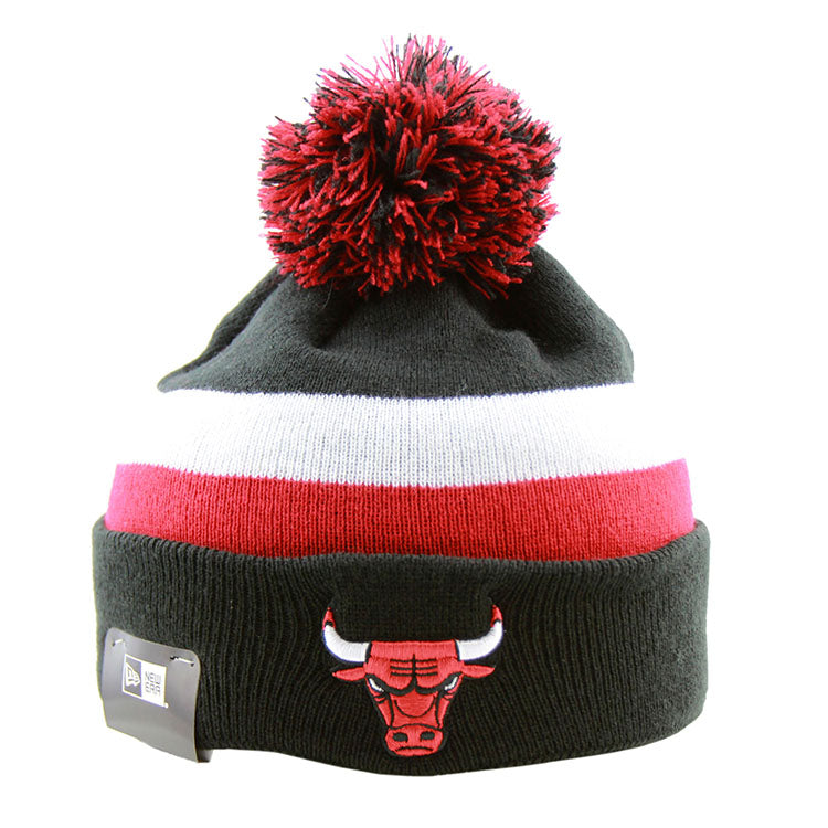 Chicago Bulls New Era Pom Knit Black Beanie