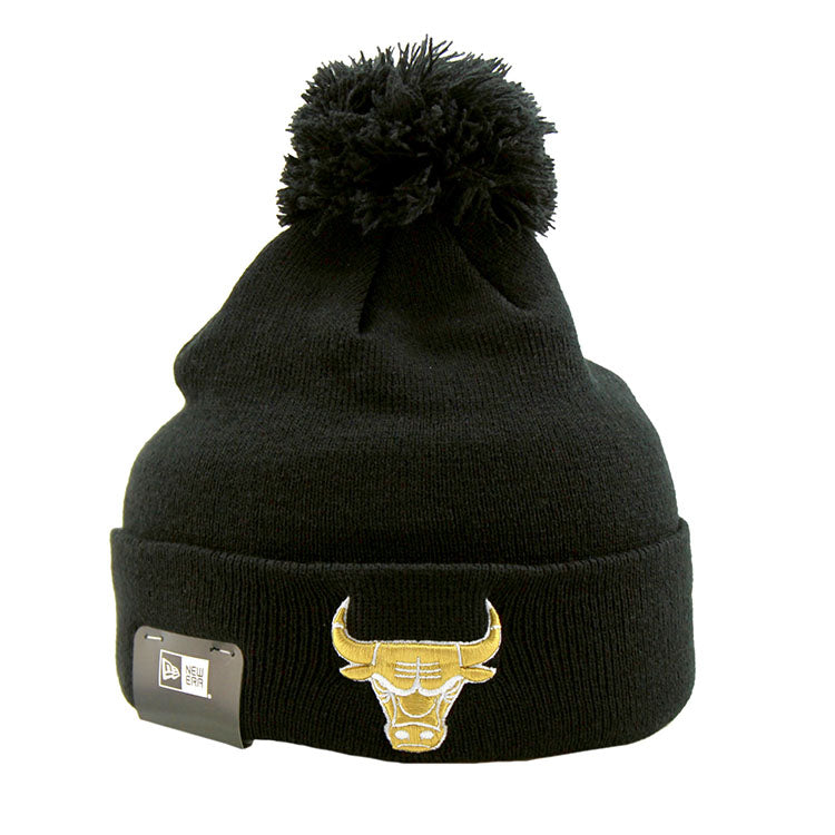 Chicago Bulls Pom Knit New Era Beanie