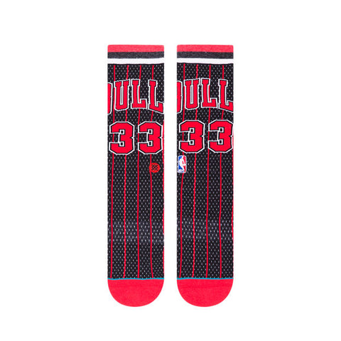Chicago Bulls 96 HWC Stance Socks Black Striped Hardwood Classic