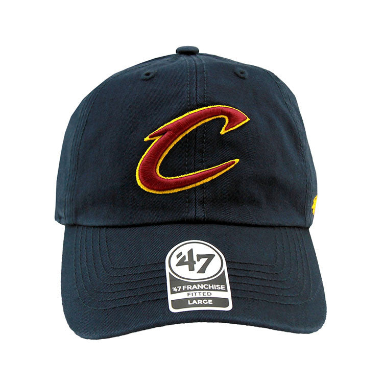 Cleveland Cavaliers Navy Fashion Fitted 47 Brand Cap