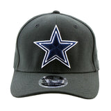 Dallas Cowboys New Era Black 9Fifty Stretch-Snap Cap
