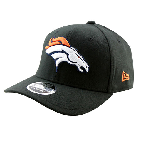 Denver Broncos New Era Black 9Fifty Stretch-Snap Cap