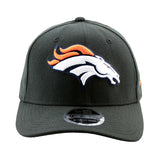 Denver Broncos New Era Black 9Fifty Stretch-Snap Cap front