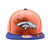 Denver Broncos New Era Heather Action Orange Navy Snapback Cap