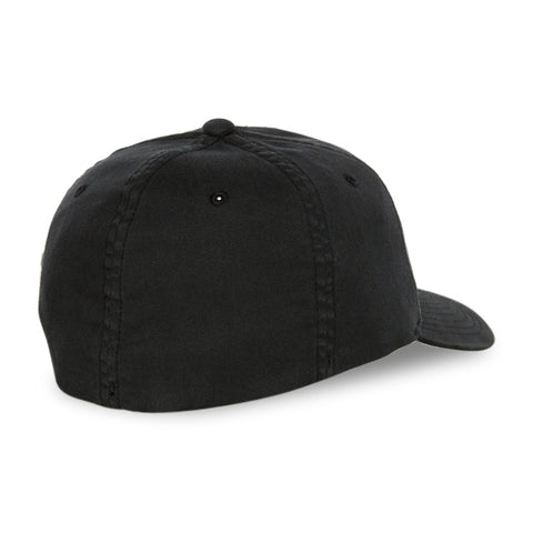 Blank Flexfit Garment Washed Lo-Pro Fitted Black Cap