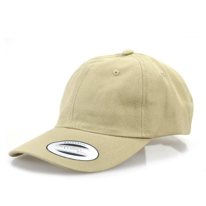 Blank Flexfit Brand Hey Dad Strapback Adjustable Khaki Cap