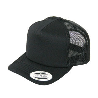Blank Flexfit Brand Worn By The World Fitted Black/Gold Cap