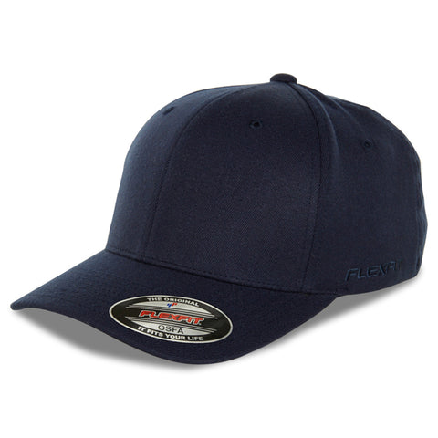 Blank Flexfit Brand Worn By The World Fitted Navy Cap