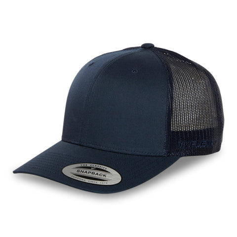 Blank Flexfit Brand Staple Wool Blend Fitted Navy Cap