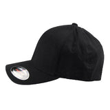 Blank Flexfit Brand Worn By The World Fitted Black Cap