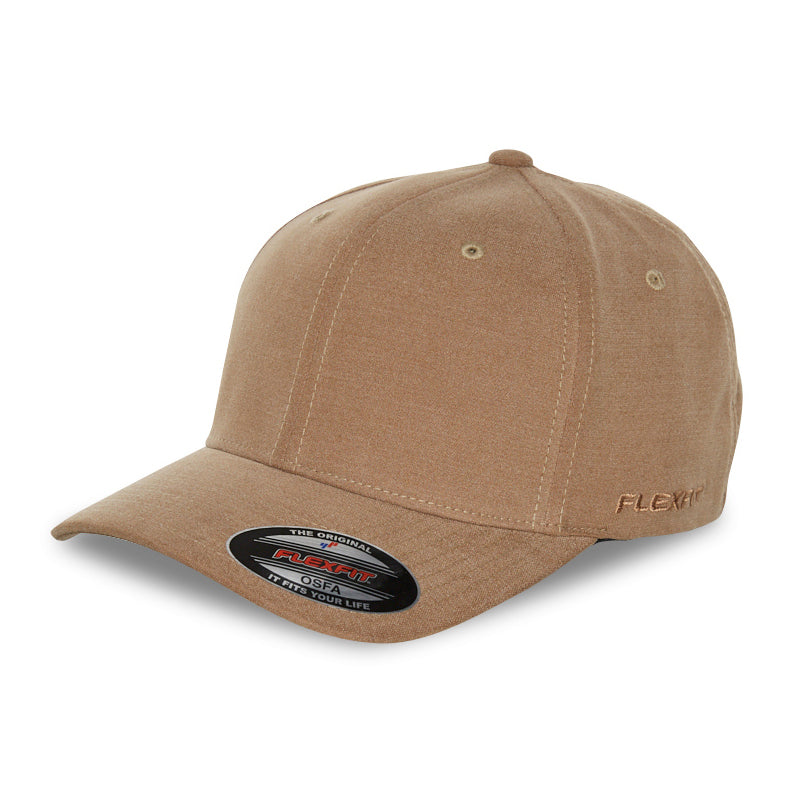 Blank Flexfit Brand Worn By The World Fitted Khaki Cap